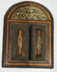 Moroccan Arched Mirror With Doors Bone Arch Door